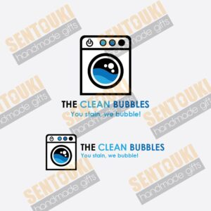 "Laundry Shop Logo ""The Clean Bubbles"""