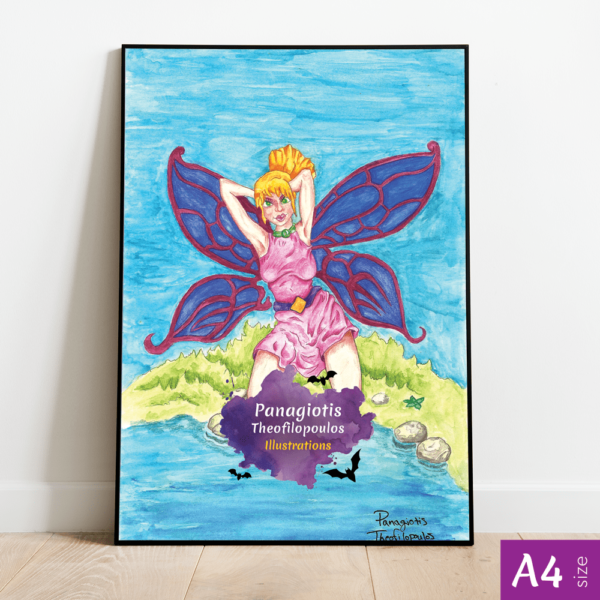 Original Artwork: ButterFairy, A4 size by Panagiotis Theofilopoulos